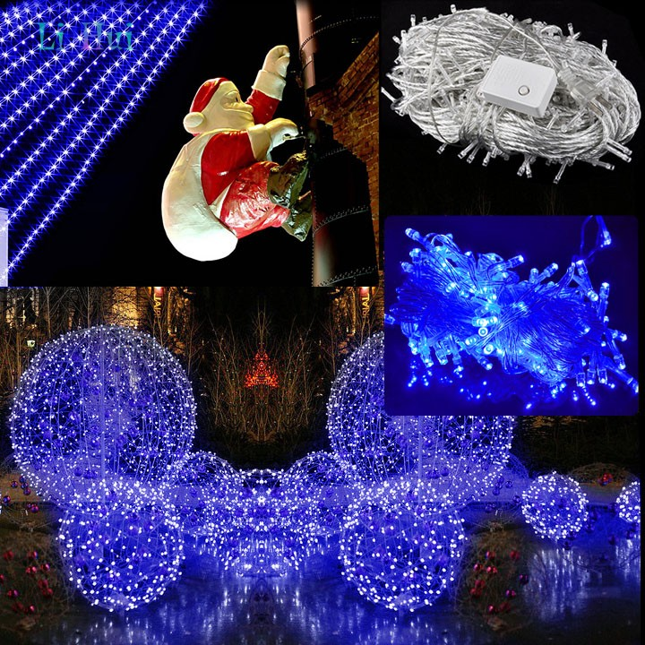 New 30M 300 LED Decorative Christmas Party Festival Twinkle String Lamp Bulb With Tail Plug 110V US Blue Light 35(China (Mainland))