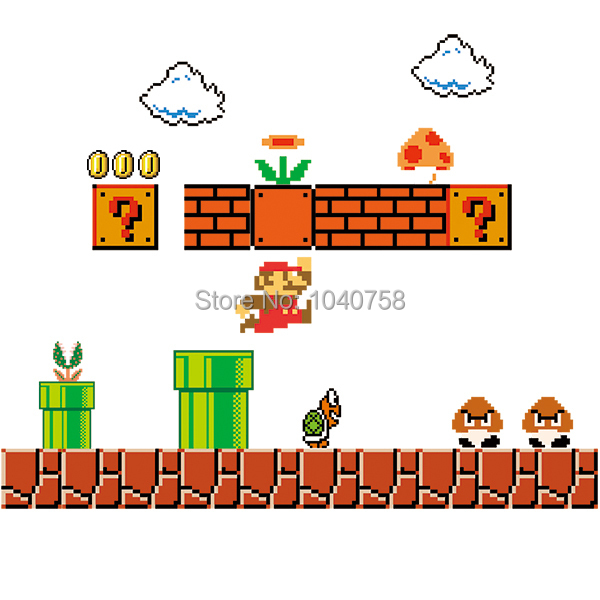 aliexpress com buy removable super mario bros wall