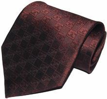 2015 Designer Brand New Classic Striped Tie Letter Silver Gray Red Brown Blue Business Fashion 100% Silk Men's Tie Necktie(China (Mainland))