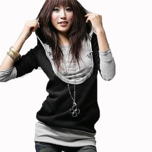 New Trendy 2015 Fashion Korean Style Women Long Sleeve Hooded Casual Hoodies Sweatshirt Tops Outerwear S M L XL 2XL 3XL 4XL(China (Mainland))