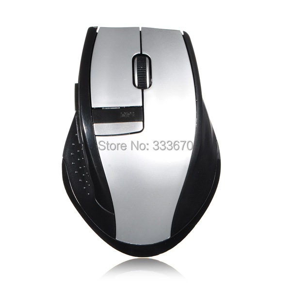 Free Shipping New Mini 2.4Ghz 1000 to 1600 DPI Ajustable RF Wireless Optical Mouse Mice USB 2.0 Receiver for PC Laptop Desktop(China (Mainland))