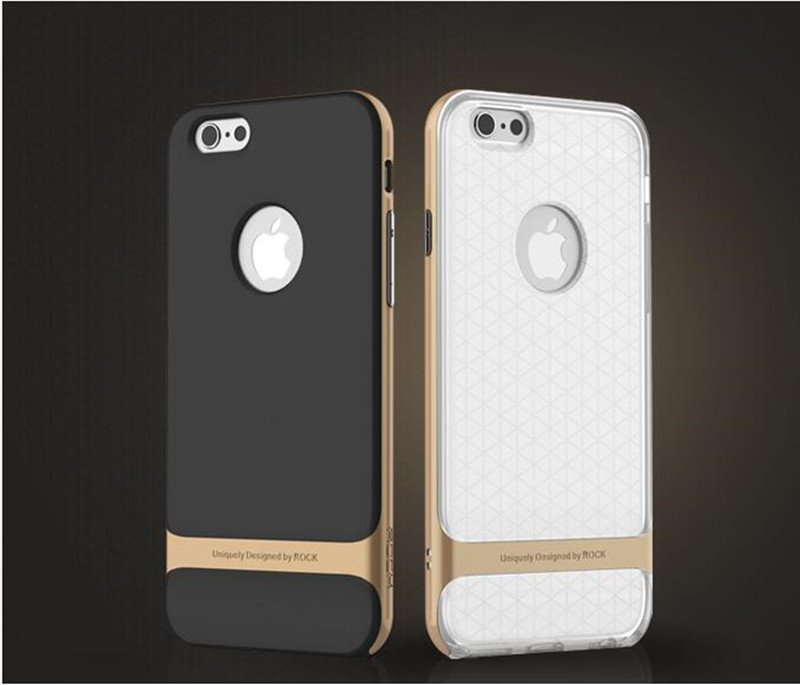 Original ROCK Royce Series Protective Shell PC Silicone Protection Shell phone case For iphone 6plus 6s plus(China (Mainland))