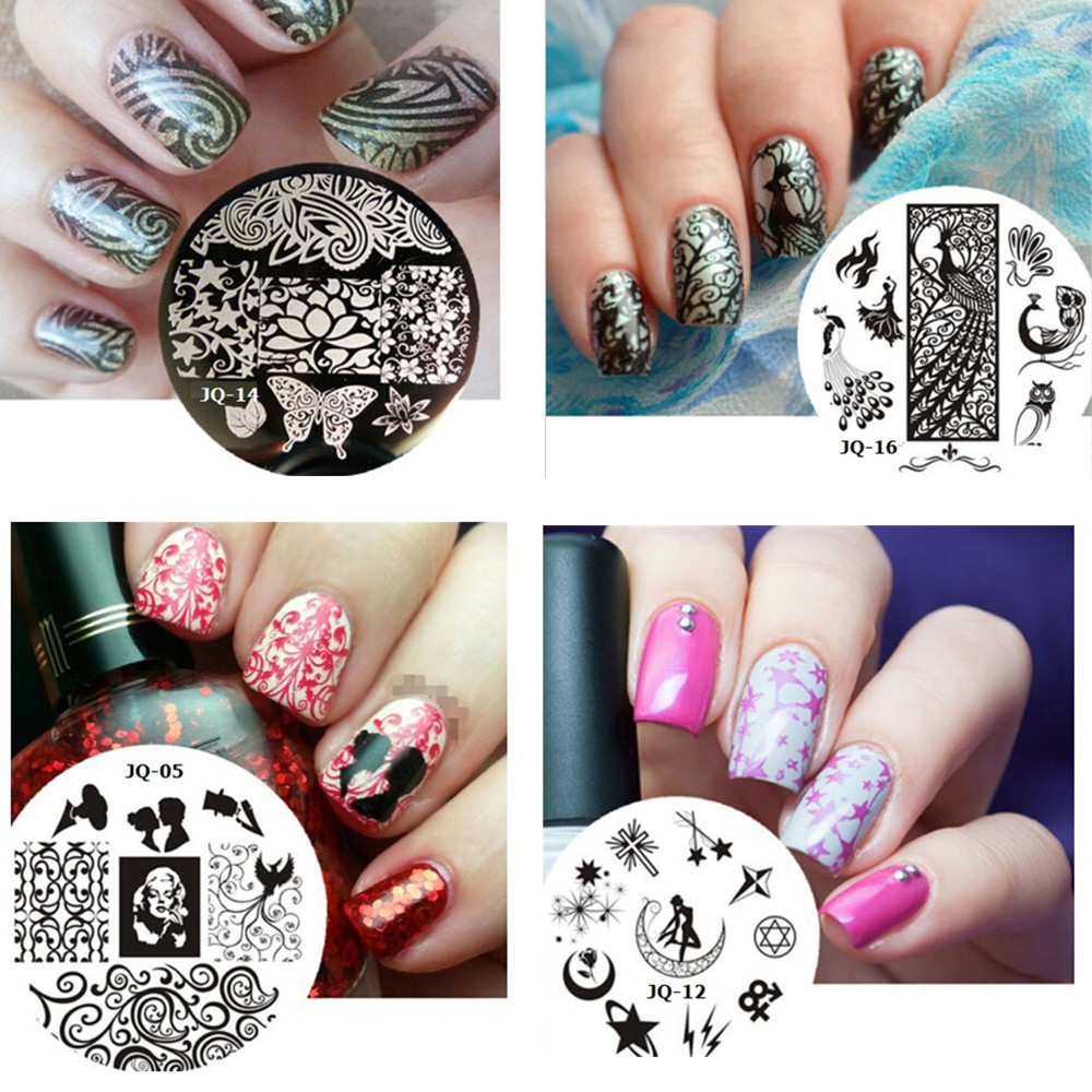 1pcs Optional 75designs Stainless Steel Nail Art Plates Stamping Stencil Image Printing Templates Polish Manicure Tools NC060(China (Mainland))