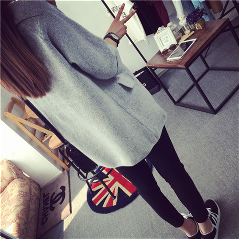 Ladies Cardigans 2016 Women Fashion Cheap Wool Sweaters Cardigan Long Knitted Sweater Womens Ponchos And Capes HK163(China (Mainland))