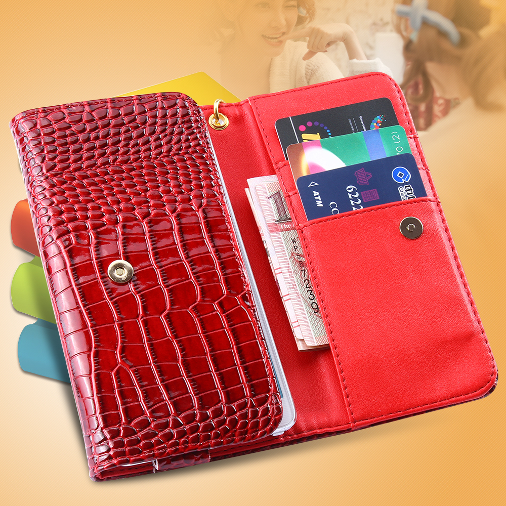 5.5'' Universal Wallet Case Card/Cash Holder Samsung Galaxy S6/Edge S7/Edge S5 S4 Note 3 4 5 iPhone 6/6S Plus Cover - RCD Trading Company store