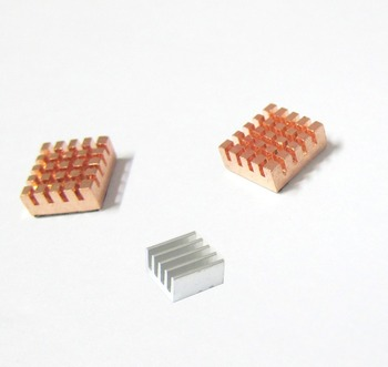New Heatsink Kit for Raspberry Pi 2x Pure Copper & 1x Aluminum Best Cool Free Shipping