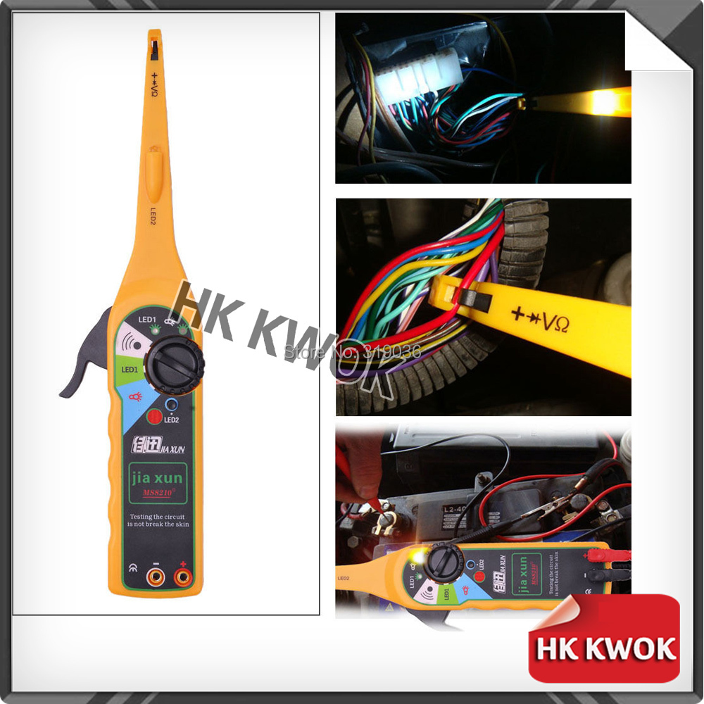 Yellow Color Car Auto Power Electric Circuit Tester Lamp Probe Light 0-380 Volt With Tracking(China (Mainland))