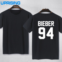 Buy JUSTIN BIEBER 94 Back Letters Print Women T shirt Cotton Casual Funny Shirt Lady White Black Gray Top Tee Hipster Z-285 for $8.29 in AliExpress store