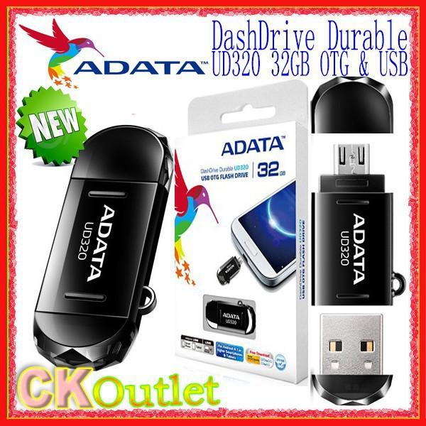 Brand New Adata DashDrive Durable UD320 32GB Dual Head USB OTG Flash Memory Drive Disk with LifeTime Warranty(Free Gift)(China (Mainland))