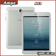 Original Ampe A83 7.85'' TN Capacitive Android 4.4 3G/2G Phone Call Tablet PC MTK8382 Quad Core 1.3GHz OTG GPS WiFi Bluetooth FM(China (Mainland))