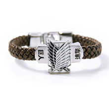 Shingeki no Kyojin Attack On Titan Giant bracelet hand-rope bracelet student long paragraph allen Accessory 2015 NEW(China (Mainland))