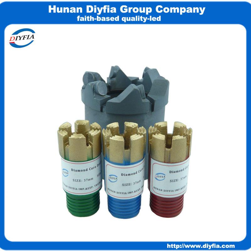 37mm mining drilling bit/ Diamond core drill bits for hard rock(China (Mainland))