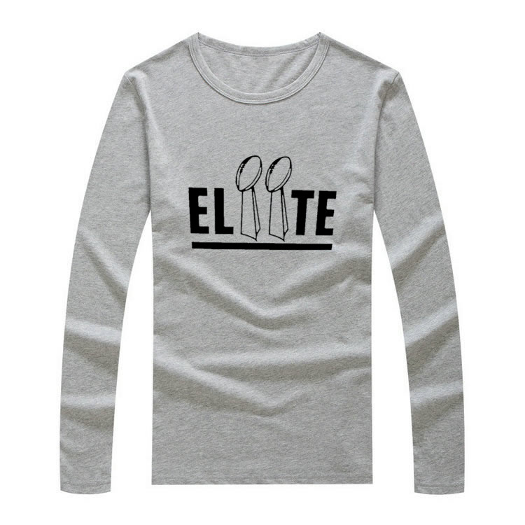 "2017 Autumn Winter Eli Manning #10 Elisha Nelson Manning New York ""Elite"" Men T-Shirt Long Sleeve Men's Giants TWO MVP W1203008(China (Mainland))"
