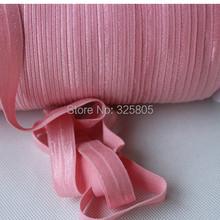 New Arrival ! #151 peony 5/8″ (16mm) FOE elastic, solid Fold Over Elastic 50yards/lot, FOE for Headbands
