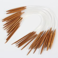 Buy New 18pcs/Set Useful 40cm Circular Bamboo Carbonized Knitting Needles 18 Sizes A1 for $2.46 in AliExpress store