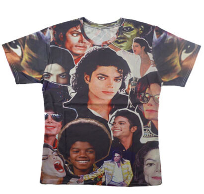 2015 New King of Rock and Roll Michael Jackson print 3d t shirt men women Boy