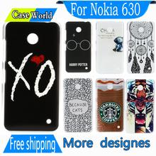 New est Vintage elegant proof Durable brand Luxury Weeknd XO New Hard back Phone Snap Cover Case for Nokia Lumia 630 635(China (Mainland))