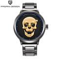 Brand PAGANI DESIGN Punk 3D Skull Personality Retro Fashion Men s Watches Large Dial Design Waterproof