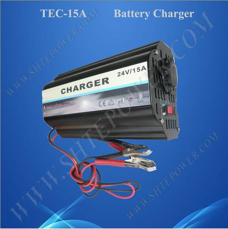 High quality 15a ac to dc charger 24v for lead acid battery(China (Mainland))