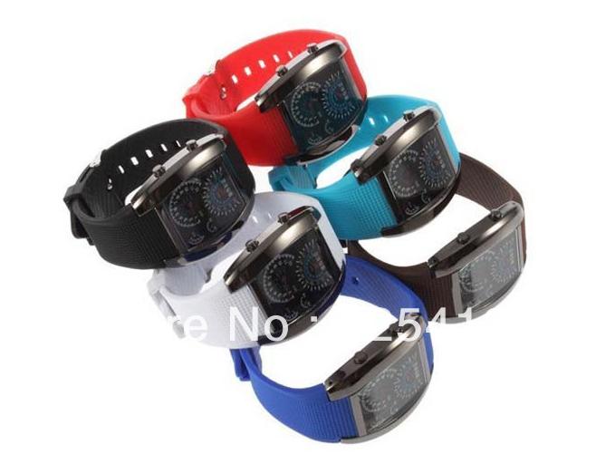 10pcs/lot Top Brand Automatic Luxury Diver LED Men Digital Watch TVG Gift Blue Light Dot Matrix Unisex Watches(China (Mainland))