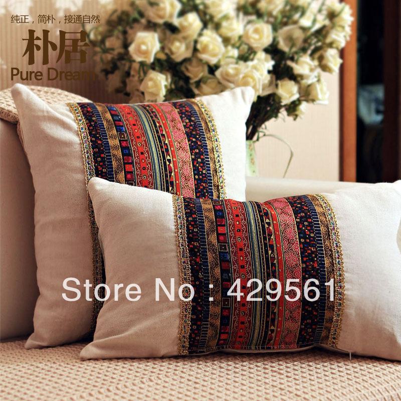 Office Chair Cushion Plaid Pillow Pillow Luxury Cushion