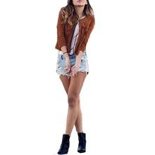 Plus Size Cardigan 2016 Autumn Winter Women Outerwear European Tassel Fringed Suede Long Sleeve Jacket Coat Casual Slim Tops(China (Mainland))