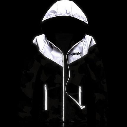 3m Reflective Jacket Spring Autumn military Jackets Splice Printing Slim Camouflage Coat Men Hooded Jacket 3m Reflective Jacket(China (Mainland))