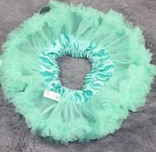 Infant baby girls chiffon Aqua blue princess skirt pettiskirt tutu Photography mini cake skirt 0-12Mo(China (Mainland))