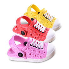 2016 Summer baby children beach slippers kids unisex boys clogs shoes girls sandals garden slippers drag free shipping 1-5age(China (Mainland))