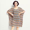 2016 women Summer Dress Women Casual soft Vestidos O Neck loose Long Maxi Shirt Vintage Dresses