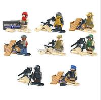 lele78064 cs отряд ВМС Печать команда Рисунок города сотрудник ОМОНа щит армии солдата полиции строительные блоки минифигурок игрушки