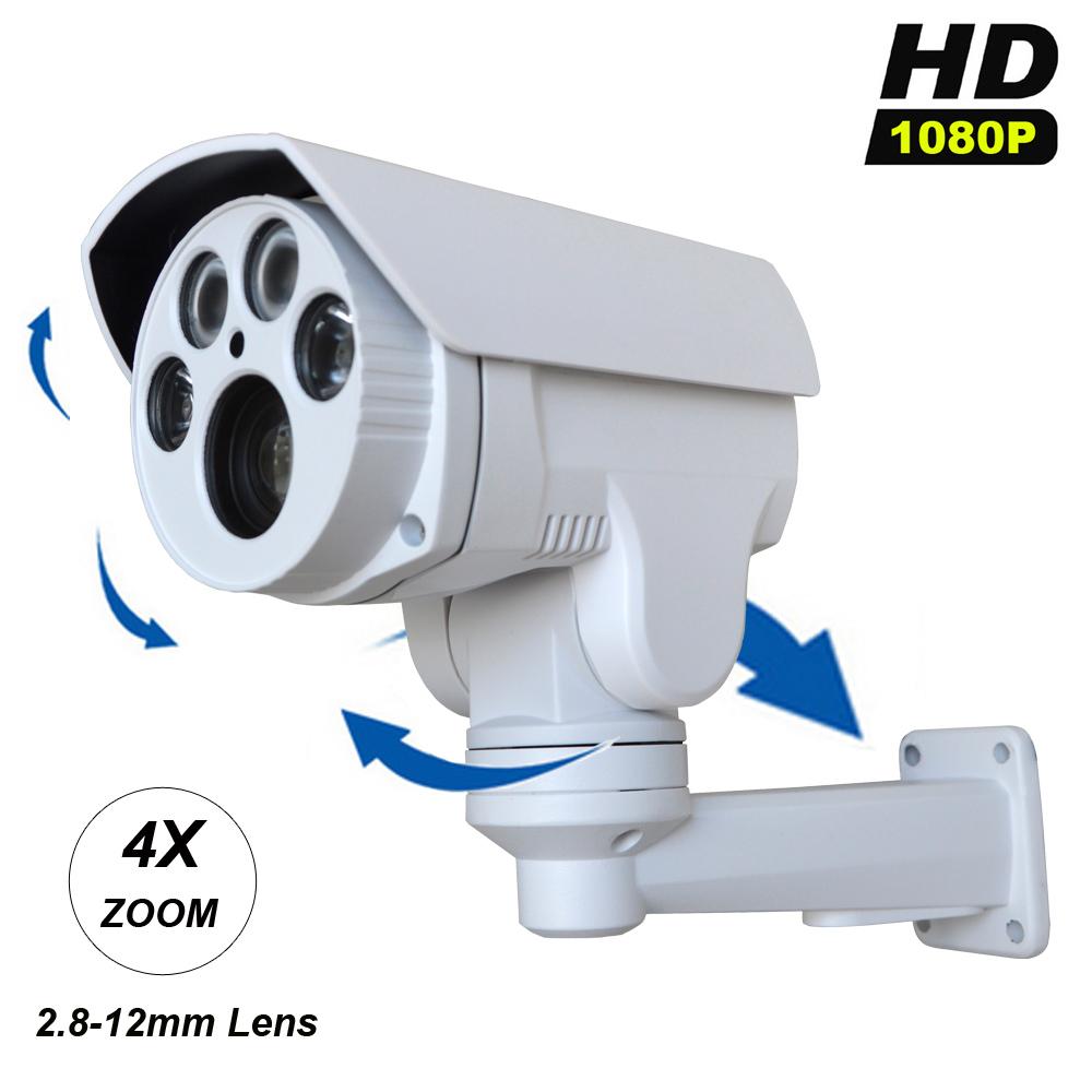 HD 1080P 2MP IP Camera 2.8-12mm Varifocal lens Pan/Tilt Rotation 4X Optical Zoom Bullet Security CCTV Mini IP PTZ Camera(China (Mainland))
