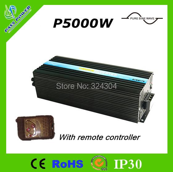 CE&RoHS Approved,DC12V 24V 48V to AC 220V 240V Pure Sine Wave Inverter 5000W(China (Mainland))
