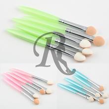 1set 5 Pcs Beauty Makeup Cosmetics Eye Shadow Eyeliner Brush Sponge Applicator Tool 2015(China (Mainland))