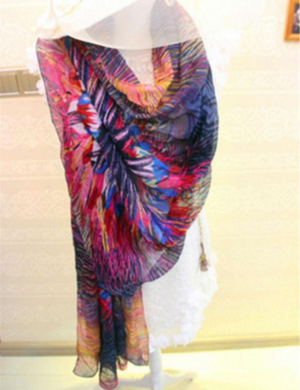 2016 Women Brand Scarf fancy sunflower shawl cotton viscose sweet floral print scarves shawls fashion wraps luxury shawl(China (Mainland))