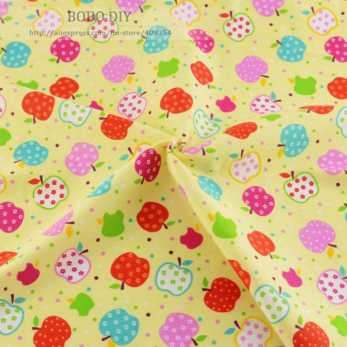 1 meter fruit printed 100 cotton twill fabric for kids for Kids dress fabric