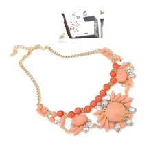 Women's Fashion Retro Ethnic Style Rhinestone Necklace Choker Crystal Bubble Irregular Flowers Pendants Chain zx*MHM068#C9(China (Mainland))