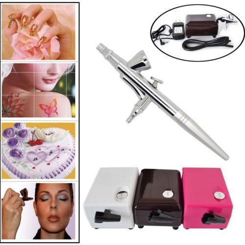dotting tool Air Brush Compressor Airbrush 0.4mm Henna Tattoo Art Kit nail tools Face Paint Tattooing Craft Cake Toy Models(China (Mainland))
