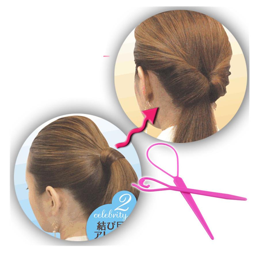 Ponytail Creator Plastic Loop Styling Tools Pony Topsy Tail Clip Hair Braid Maker Styling Tool Fashion Salon(China (Mainland))