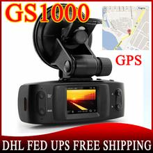 100pcs Car DVR GS1000 with GPS logger G-Sensor camera recorder Full HD 1080P 30fps Ambarella CPU H.264 IR Night Vision(China (Mainland))