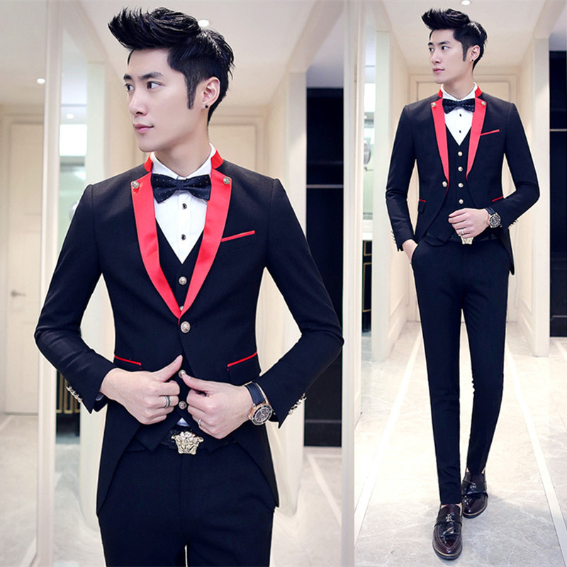 Online Get Cheap Red Prom Tuxedos Aliexpress