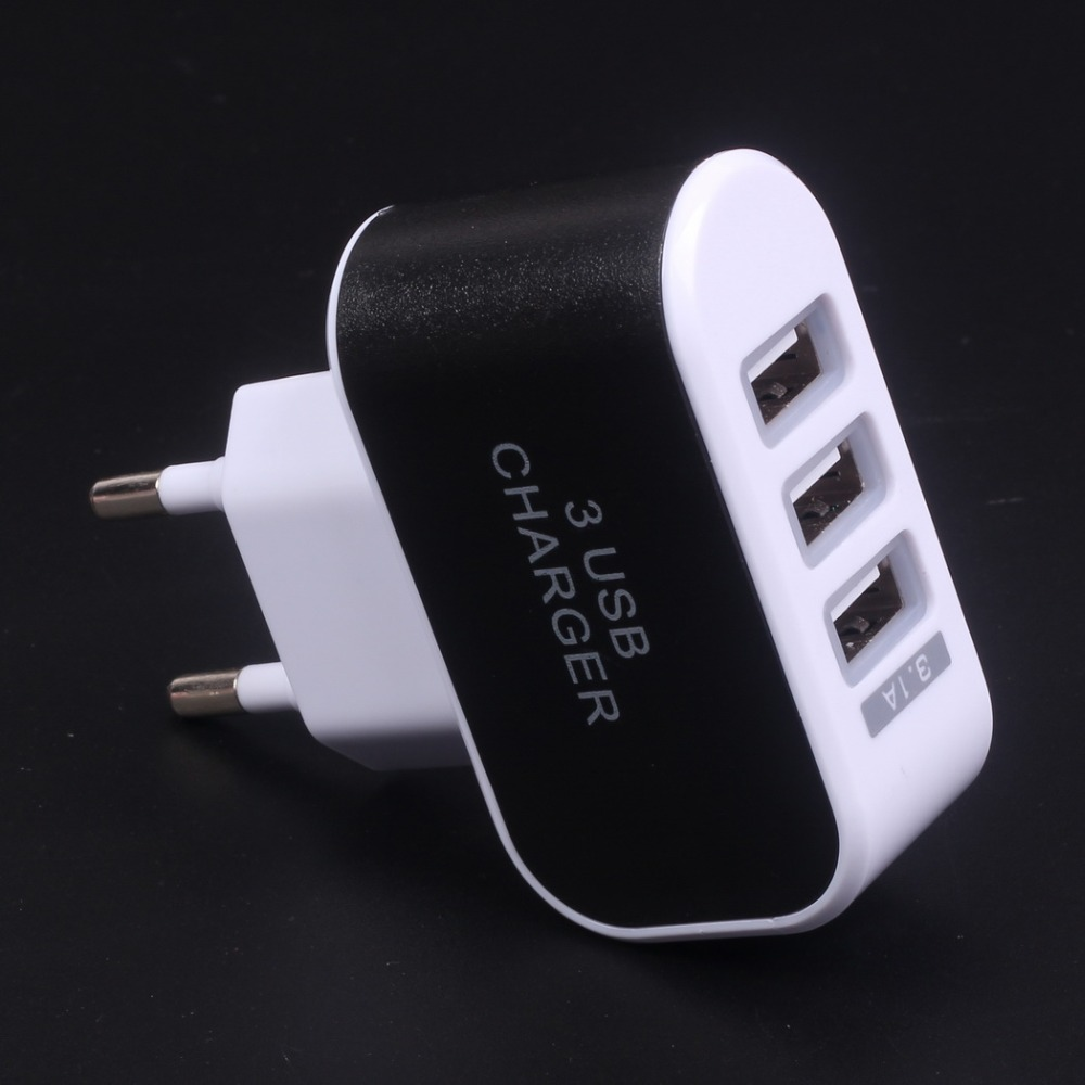 5 V 3.1A 3-Ports Usb-oplader Draagbare Reizen Lader Adapter EU US Plug Mobiele Telefoon Smart Charger voor iPhone Samsung LG HTC(China (Mainland))
