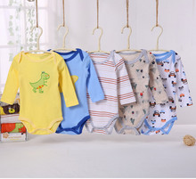 Buy 5PCS/LOT Baby boys girls long sleeve rompers newborn baby cotton clothing infant rompers boys girls rompers 2001 01 for $12.26 in AliExpress store
