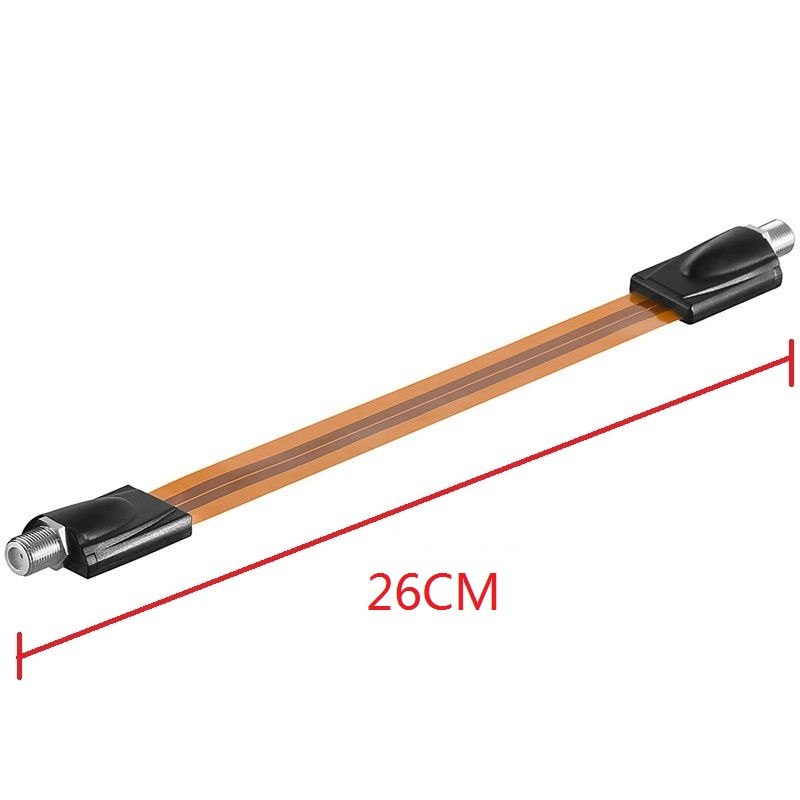 Extrem slim Flat RG6 Coaxial Cable Female F Connector Fits Under Doors Windows 26cm long wholesale in stock 20PCS Free shipment(China (Mainland))