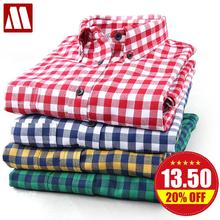 Free shipping Hot Grinding flannel plaid shirt Men's Casual Slim fit Stylish Dress Shirts Long Sleeve Shirts for Men S-XXXXL(China (Mainland))