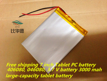 1pcs 7 inch tablet PC 406080, 046080, 3.7 V battery 3000 mah large-capacity tablet battery