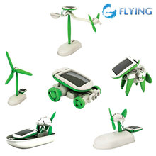 6 in 1 Creative DIY Educational Learning Power Solar Robot Kit Children Toy New(China (Mainland))
