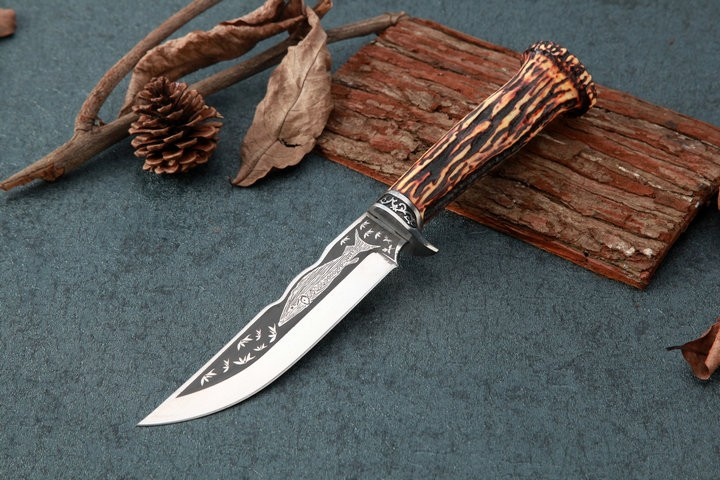Buy 3 Options!!!Fixed knife Straight hunting knife 57HRC 5cR15MOV blade EDC tools camping free shipping VG10 cheap
