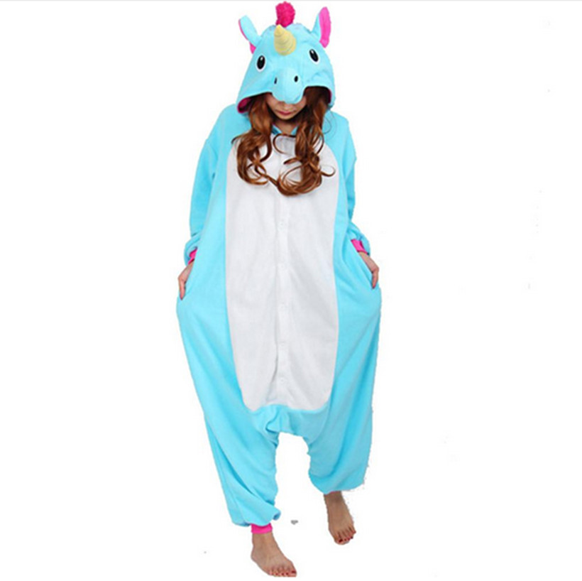 Unisex Adult Fleece Animal Cosplay Costumes Winter Cartoon Pegasus Unicorn Onesies Christmas Halloween Fancy Party Costume - Rubylong Store store