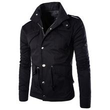 2015 Hot high quality men's jacket fashion elegant coat Sexy Top Designed slim fit casual jacket men plus size M~4XL(China (Mainland))